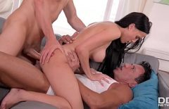 Gorgeous Pussy Riding On Two Raised Cocks
