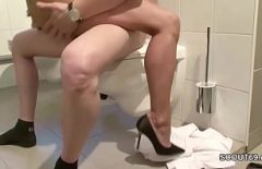 Sex On The Toilet With Young Wife With Wet Pussy