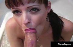 Pussy Masturbating And Rubbing Cock In Bathtub