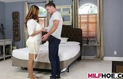 The Young Pregnant Woman Takes Advantage Of The Body Of A Young Man Who Asks Her To Let Go Of Her