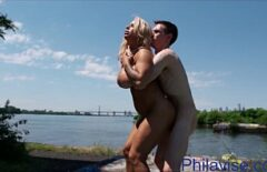 Fuck On The Beach In Public With A Good Cocked Excited Blonde