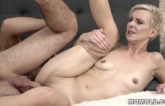 Blonde Baba Having Sex With A Young Man